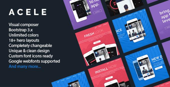 Acele - Responsive Clean WordPress Software Theme