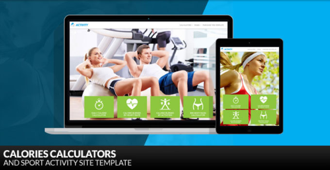 Activity - Calories Calculators and Sport Activity WordPress Theme