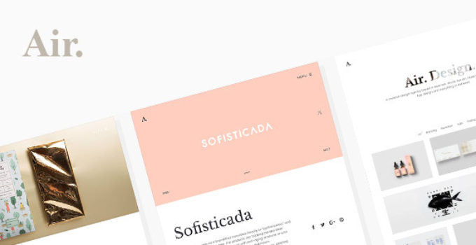 Air. Lightweight Portfolio WordPress Theme