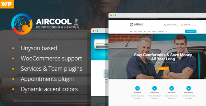 AirCool - Conditioning And Heating WordPress theme