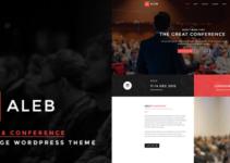 Aleb - Event Conference Onepage WordPress Theme