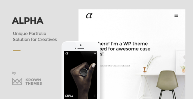Alpha - The Unique Portfolio Theme for Creatives