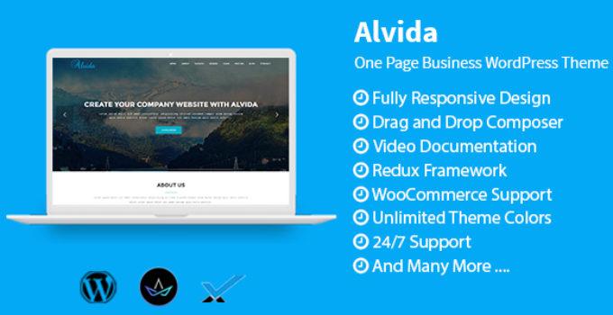 Alvida - One Page Business WordPress Theme
