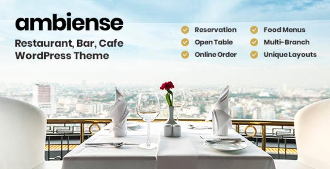 Ambiense - Restaurant & Cafe WordPress Theme FREE Download