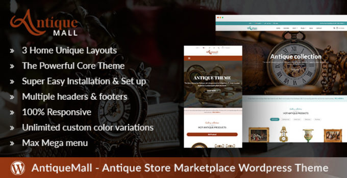 AntiqueMall - Antique Store Marketplace WordPress Theme