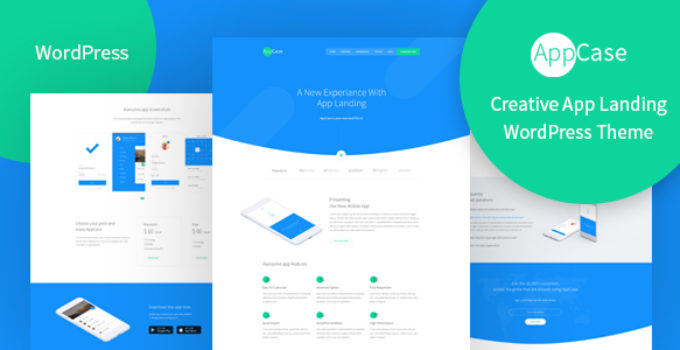 AppCase - WordPress App Landing Theme