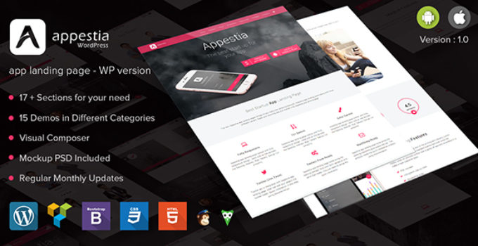 Appestia - App Landing Page WordPress Version