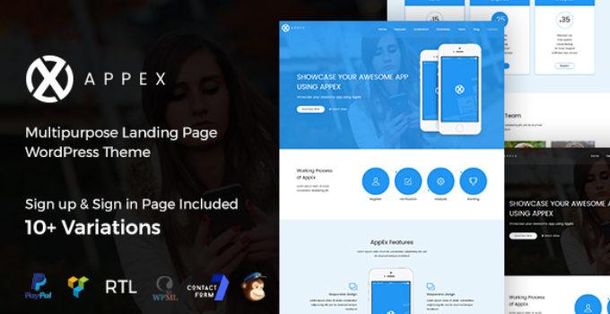 AppEx - App Landing WordPress Theme