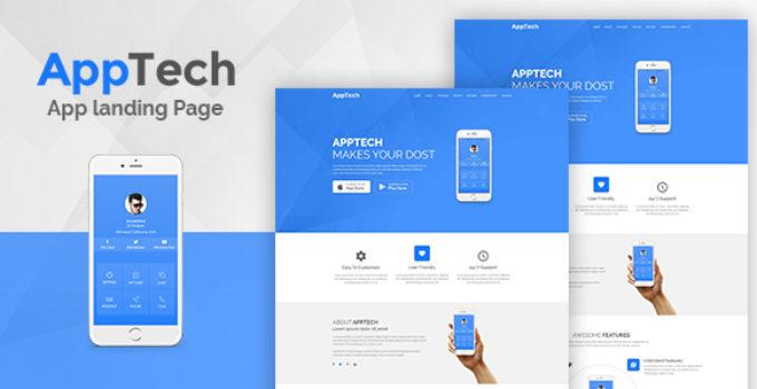 AppTech - WordPress Landing Page Theme