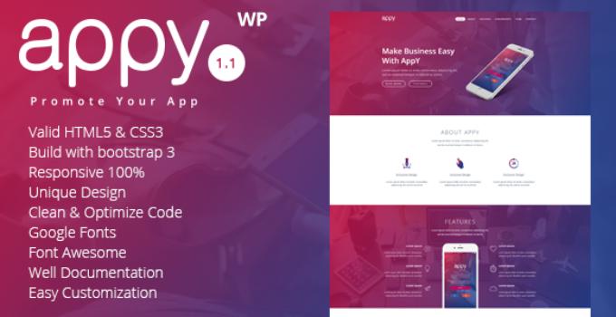 appy | App Landing WordPress Theme