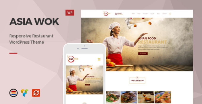 Asia Wok – Responsive Restaurant WordPress Theme