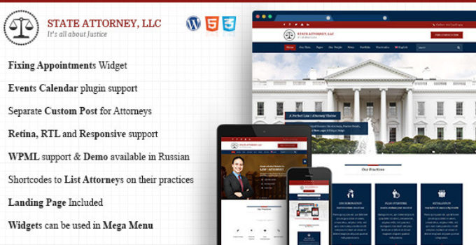 Attorney & Lawyer | Responsive Lawyers, Attorneys Theme