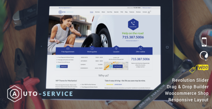 Auto Repair & Car Mechanic - WordPress