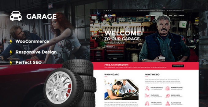 Automotive WordPress Theme - Garage