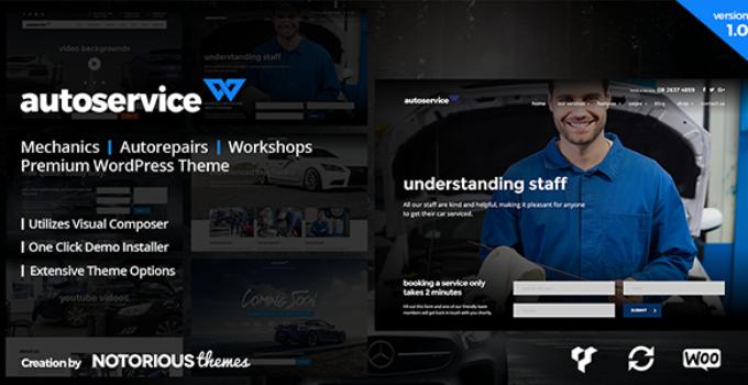 AutoService - Car Mechanics, Auto Repairs and Car Workshops WordPress Theme