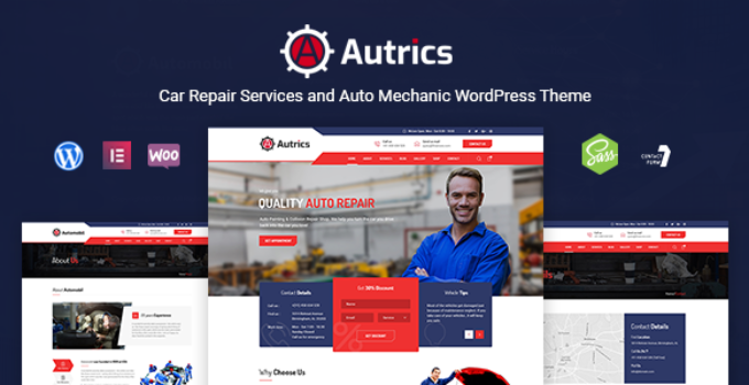 Autrics | Car Repair Services and Auto Mechanic WordPress Theme