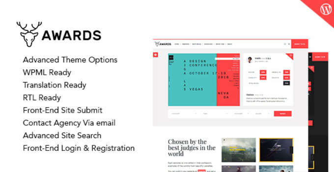 Awards - Gallery Nominees Website Showcase Responsive WordPress Theme