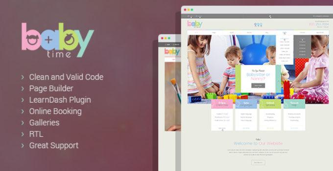 BabyTime - Babysitter, Nurse and Preschool Education WordPress Theme