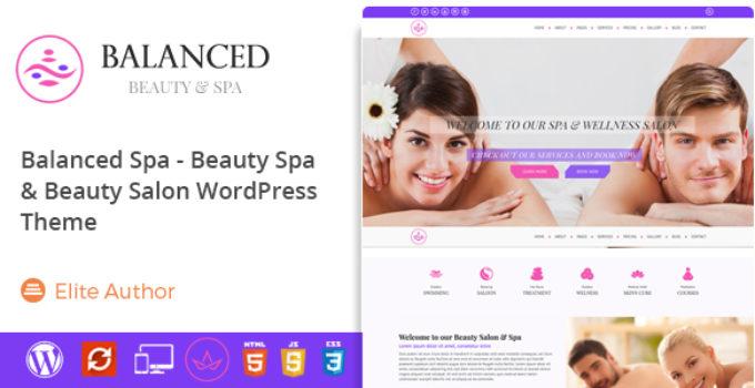 Balanced Spa - Salon, Spa WordPress Theme