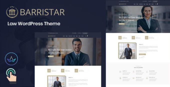 Barristar – Law WordPress Theme