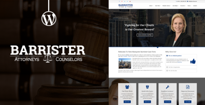 Barrister - Responsive Law Business WordPress Theme