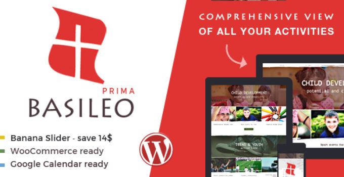 Basileo Prima • Modern WordPress Theme For Church Or Charity