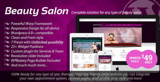 Beauty Salon - Responsive WordPress Template