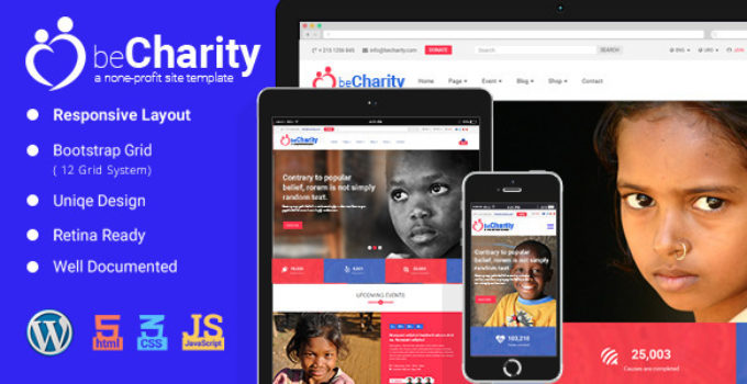 beCharity - WordPress Charity Theme