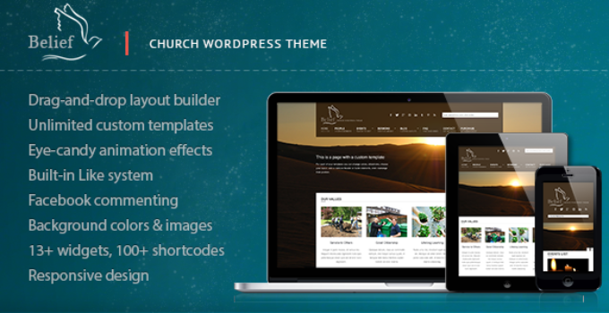 Belief - Church WordPress Theme