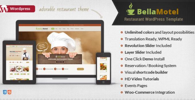 Bella Recipe - Restaurant & Recipe WordPress Theme