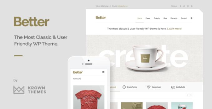 Better - Minimalistic Business WordPress Theme