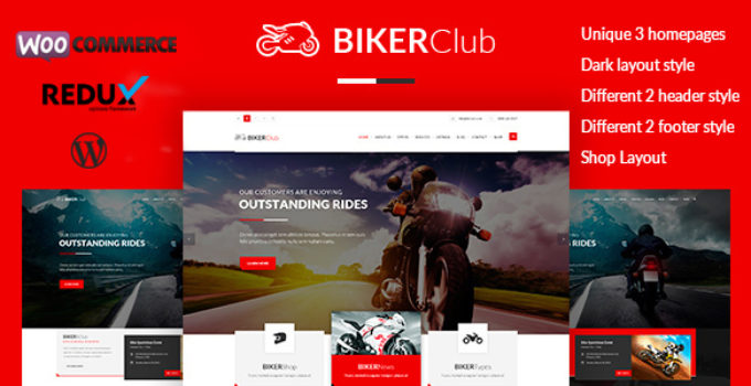 Biker Club - WordPress theme
