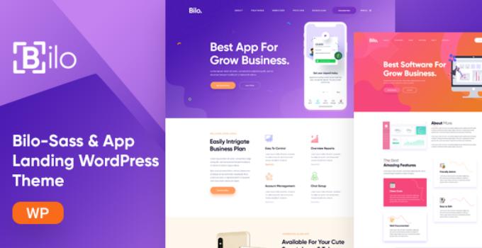 Bilo - SaaS & App Landing WordPress Theme