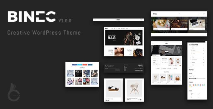 Binec - Creative WordPress WooCommerce Theme