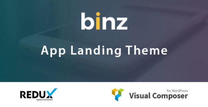 Binz App Landing Theme
