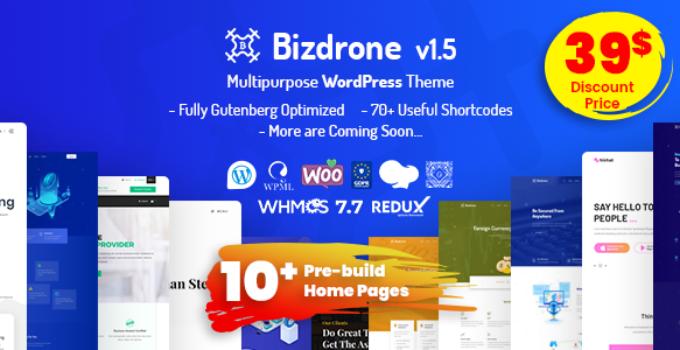 Bizdrone | Multipurpose WordPress Theme