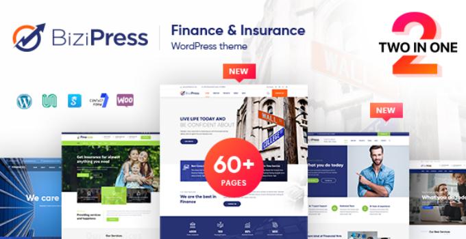 BiziPress - Finance Insurance Agency WordPress Theme