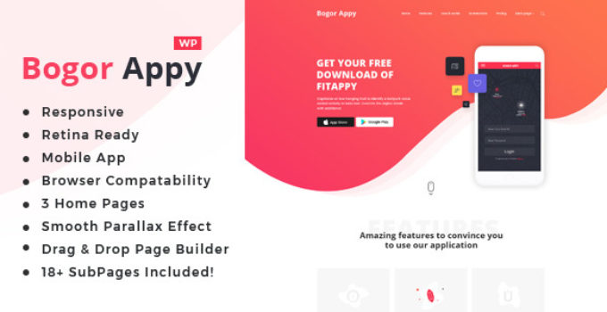 Bogor | App Landing WordPress Theme