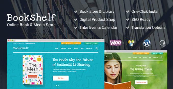Bookshelf | Books & Media Online Store WordPress Theme