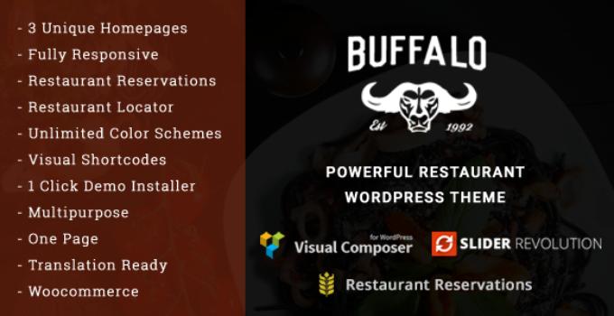 Buffalo - Cafe & Restaurant WordPress Theme