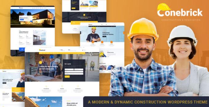 Building Conebrick – Building Construction Factory WordPress Theme