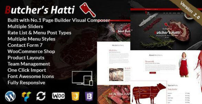 Butcher's Hatti - Butcher & Meat Shop Woocommerce WordPress Theme