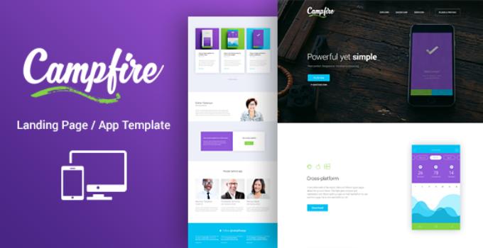 Campfire - Responsive WordPress Technology Landing Page Theme