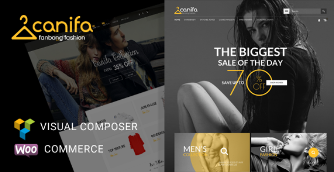 Canifa - Fashion Shop RTL Responsive WooCommerce WordPress Theme