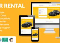 Car Rental WordPress Theme Landing Page