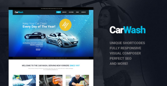 Car Wash, Auto Mechanic & Repair Shop WordPress Theme