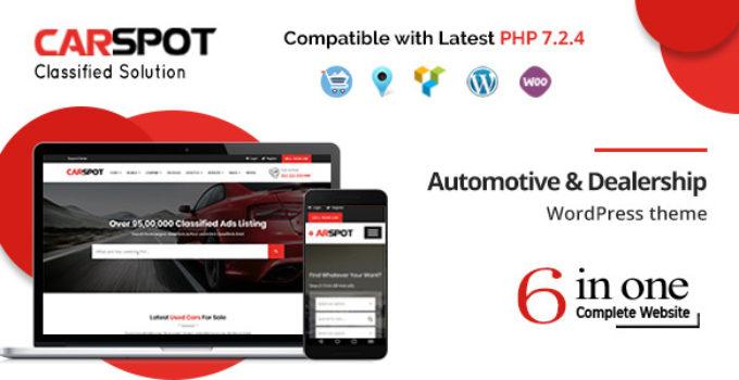 CarSpot – Automotive Car Dealer Wordpress Classified Theme