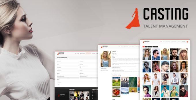 Casting - Modeling & Talent Agency WordPress Theme