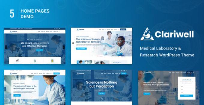 Clariwell – Medical Laboratory & Research WordPress Theme