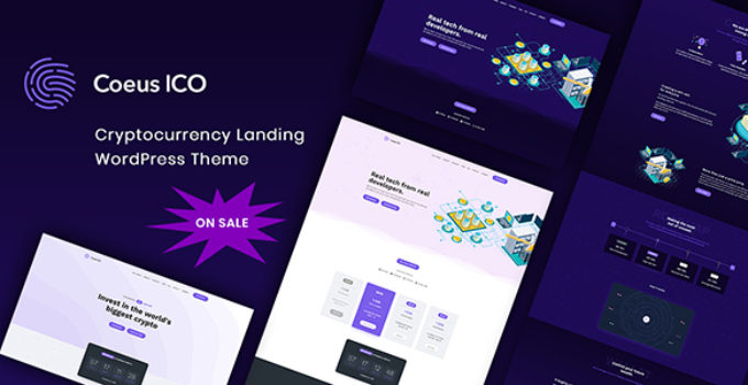 Coeus - Cryptocurrency Landing Page WordPress Theme